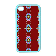 Geometric Seamless Pattern Digital Computer Graphic Apple Iphone 4 Case (color)