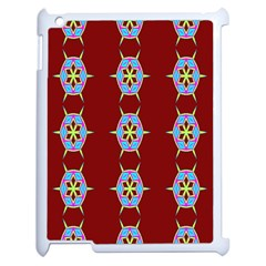 Geometric Seamless Pattern Digital Computer Graphic Apple iPad 2 Case (White)