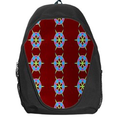 Geometric Seamless Pattern Digital Computer Graphic Backpack Bag