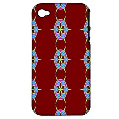 Geometric Seamless Pattern Digital Computer Graphic Apple Iphone 4/4s Hardshell Case (pc+silicone)