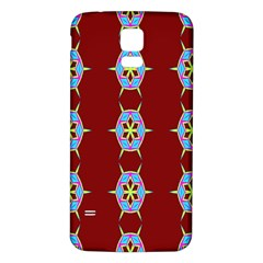 Geometric Seamless Pattern Digital Computer Graphic Samsung Galaxy S5 Back Case (White)