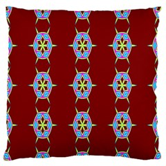 Geometric Seamless Pattern Digital Computer Graphic Large Flano Cushion Case (Two Sides)