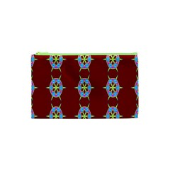 Geometric Seamless Pattern Digital Computer Graphic Cosmetic Bag (xs)