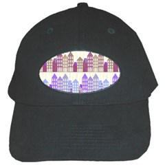 Houses City Pattern Black Cap