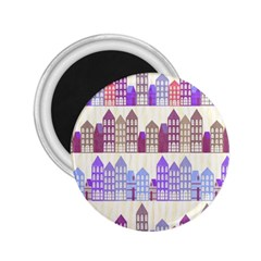 Houses City Pattern 2.25  Magnets