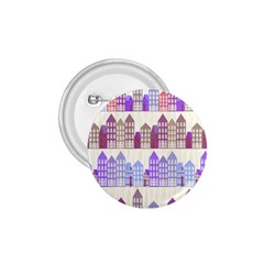 Houses City Pattern 1 75  Buttons