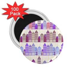 Houses City Pattern 2.25  Magnets (100 pack)