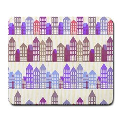 Houses City Pattern Large Mousepads