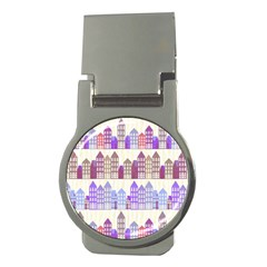 Houses City Pattern Money Clips (Round)