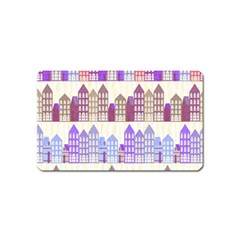 Houses City Pattern Magnet (name Card)