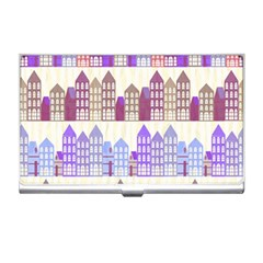 Houses City Pattern Business Card Holders