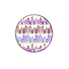 Houses City Pattern Hat Clip Ball Marker (4 pack)