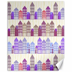 Houses City Pattern Canvas 16  x 20