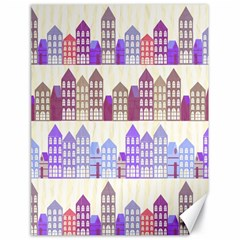 Houses City Pattern Canvas 18  X 24