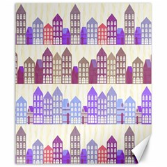 Houses City Pattern Canvas 20  x 24