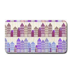 Houses City Pattern Medium Bar Mats