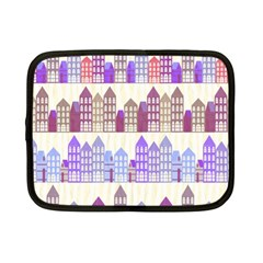 Houses City Pattern Netbook Case (Small)