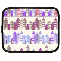 Houses City Pattern Netbook Case (Large)