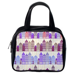 Houses City Pattern Classic Handbags (one Side)