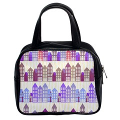 Houses City Pattern Classic Handbags (2 Sides)