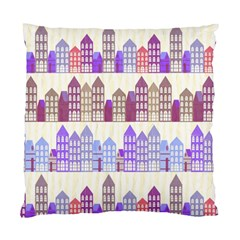 Houses City Pattern Standard Cushion Case (two Sides)