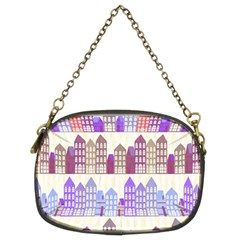 Houses City Pattern Chain Purses (Two Sides)