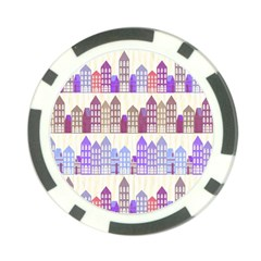 Houses City Pattern Poker Chip Card Guard (10 Pack)