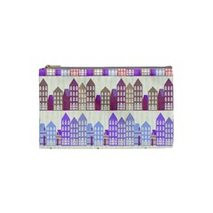 Houses City Pattern Cosmetic Bag (Small)