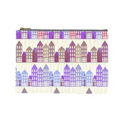 Houses City Pattern Cosmetic Bag (Large)
