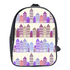 Houses City Pattern School Bags(large)