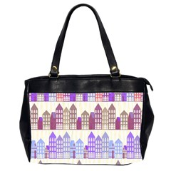 Houses City Pattern Office Handbags (2 Sides)