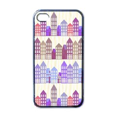Houses City Pattern Apple iPhone 4 Case (Black)