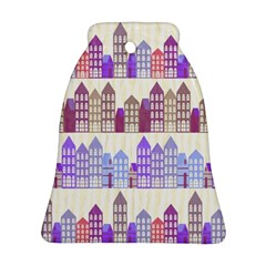 Houses City Pattern Bell Ornament (Two Sides)