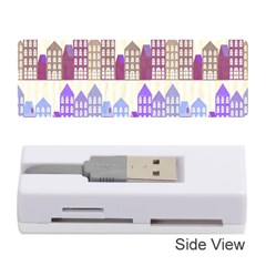 Houses City Pattern Memory Card Reader (stick)