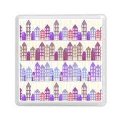 Houses City Pattern Memory Card Reader (square)