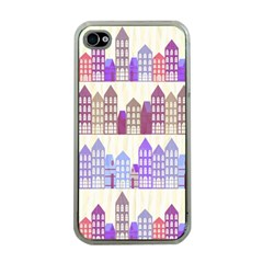 Houses City Pattern Apple Iphone 4 Case (clear)