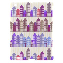Houses City Pattern Apple iPad 3/4 Hardshell Case (Compatible with Smart Cover)