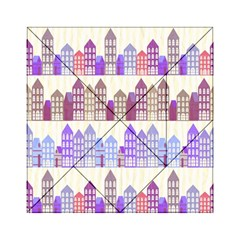 Houses City Pattern Acrylic Tangram Puzzle (6  x 6 )