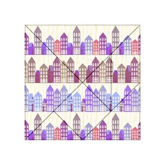 Houses City Pattern Acrylic Tangram Puzzle (4  x 4 )