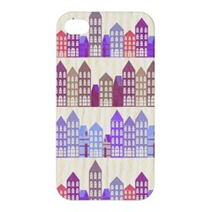 Houses City Pattern Apple Iphone 4/4s Premium Hardshell Case