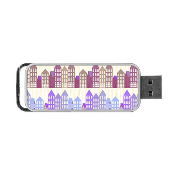 Houses City Pattern Portable USB Flash (Two Sides)