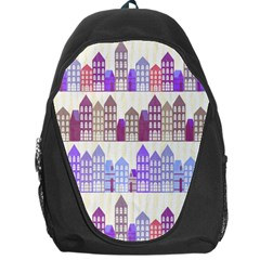 Houses City Pattern Backpack Bag