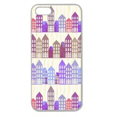 Houses City Pattern Apple Seamless iPhone 5 Case (Clear)