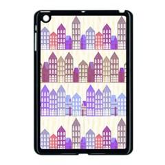 Houses City Pattern Apple Ipad Mini Case (black)