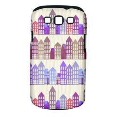 Houses City Pattern Samsung Galaxy S III Classic Hardshell Case (PC+Silicone)