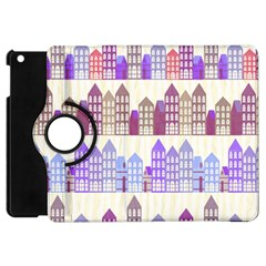 Houses City Pattern Apple iPad Mini Flip 360 Case