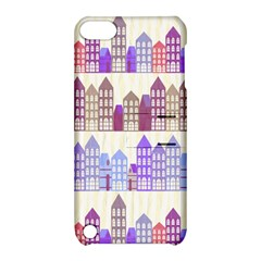 Houses City Pattern Apple Ipod Touch 5 Hardshell Case With Stand