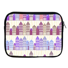 Houses City Pattern Apple Ipad 2/3/4 Zipper Cases