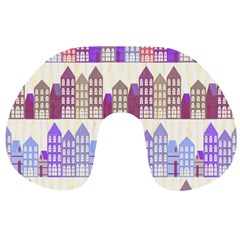 Houses City Pattern Travel Neck Pillows