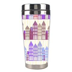 Houses City Pattern Stainless Steel Travel Tumblers